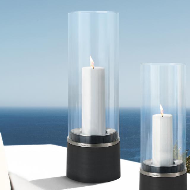 Blomus PIEDRA storm lantern with candle