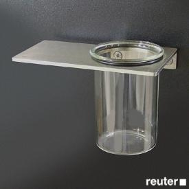 Boffi Blade tumbler with wall-mount satinised stainless steel