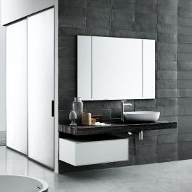 Boffi Flyer hanging undercounter unit with drawer and inside drawer matt white