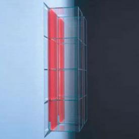 Boffi GLASS cabinet with 1 open compartment white