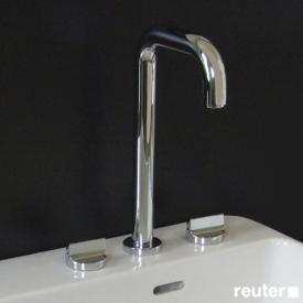 Boffi LIQUID RGSL02 three hole two handle basin mixer without waste set