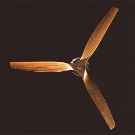 Boffi Minimal ceiling fan with infrared remote control natural wood