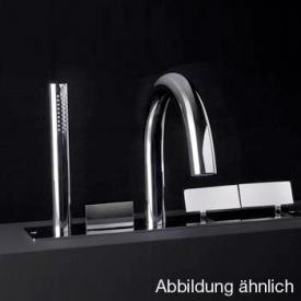 Boffi Wings RGNS01/RGNS02 built-in, deck-mounted tap set for bath satinised stainless steel
