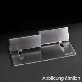 Boffi Wings RHNS05/RHNS06 deck-mounted tap set for washbasin satinised stainless steel