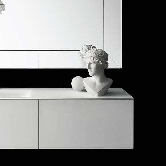 Boffi Soho BWRPJ090SH vanity unit for drop-in washbasin with drawer white