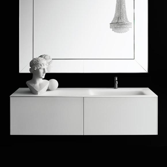 Boffi Soho countertop with basin white