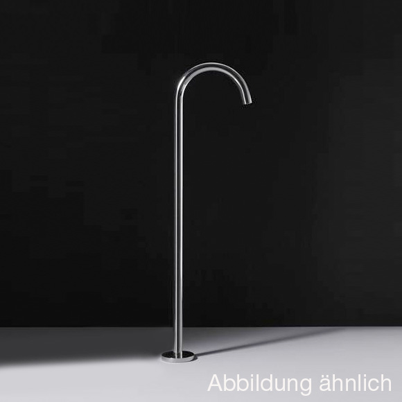 Boffi WINGS RINS floor-standing basin spout without waste set, satinised stainless steel