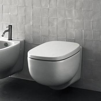Boffi XY wall-mounted washdown toilet matt white