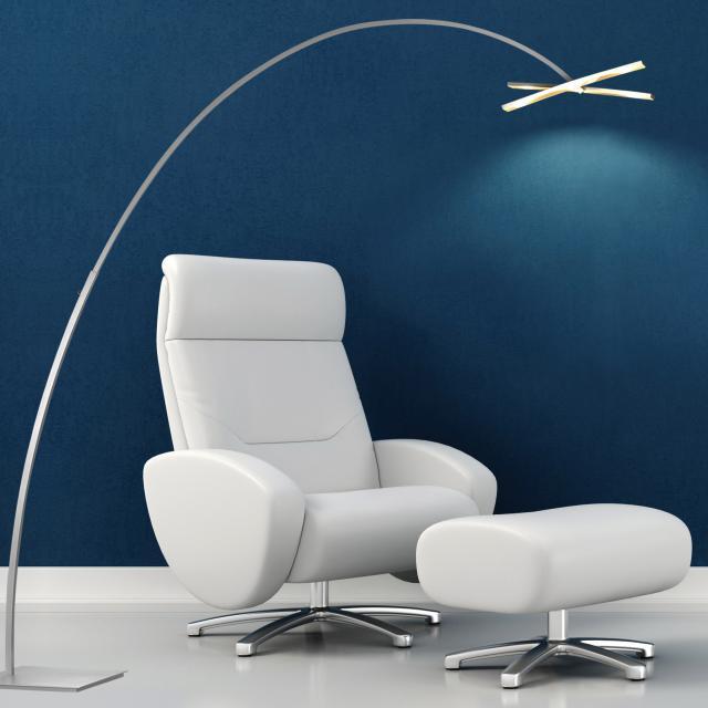 BOPP Arco LED floor lamp with dimmer