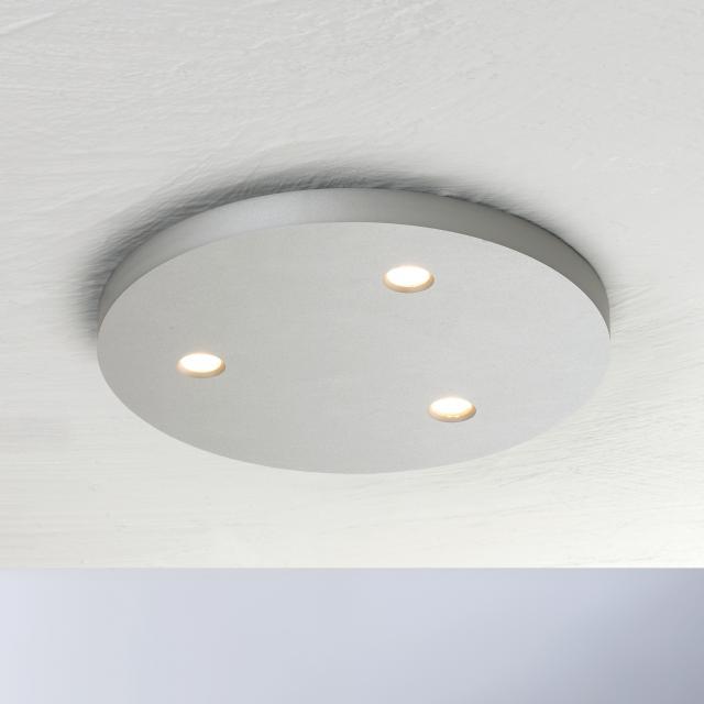BOPP Close LED ceiling light, 3 heads, round