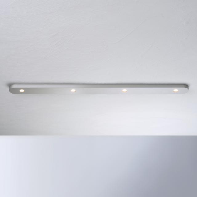 BOPP Close LED ceiling light, 4 heads, long