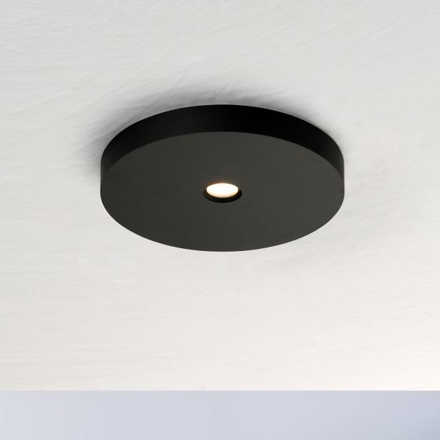 BOPP Close LED ceiling light, single-headed, round