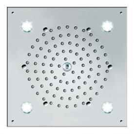 Bossini Cube Flat overhead shower, with LED lighting