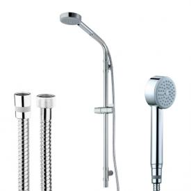 Bossini Cylindrica/1 hand shower set with metal shower hose H: 870 mm