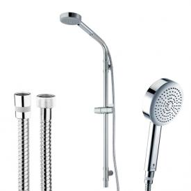 Bossini Dinamica/1 Ø 110 mm hand shower set with metal shower hose height: 870 mm