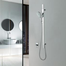 Bossini Flat shower rail set with Mixa/3 Fitair hand shower