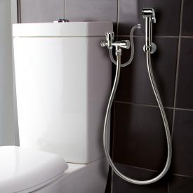 Bossini Paloma shower set for exposed cistern, with double shut-off valve