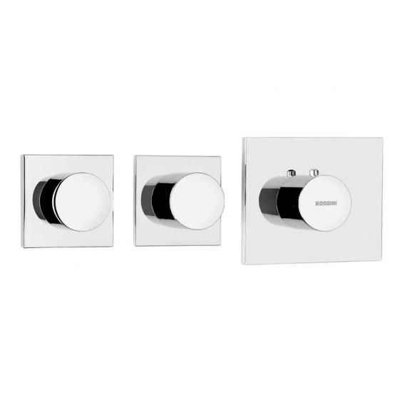 Bossini Alta Portata concealed thermostat for 2 or 3 outlets