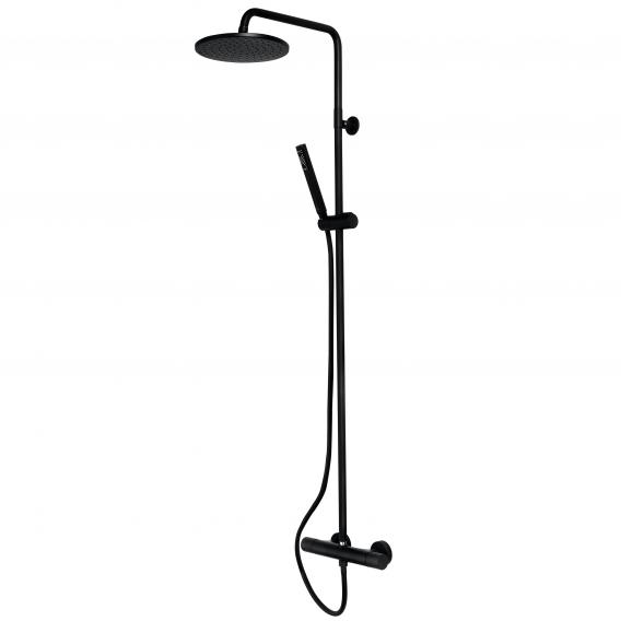 Bossini Black Cosmo shower system with single lever mixer