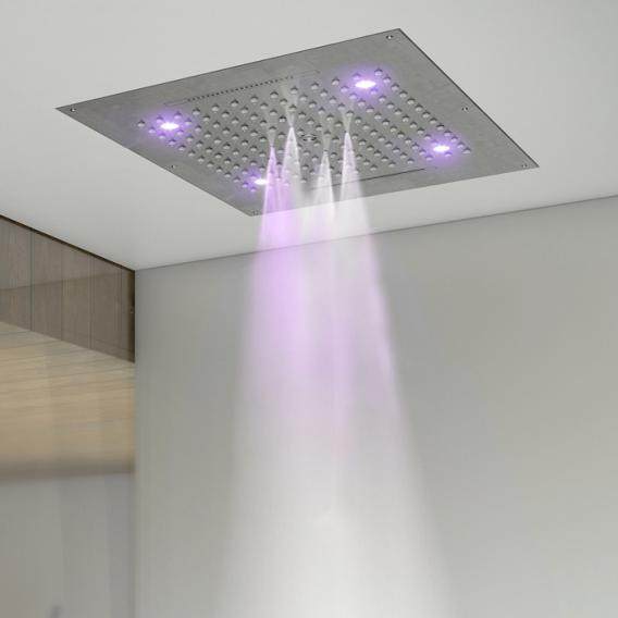 Bossini Dream overhead shower with 4 spray modes incl. Mist, with RGB LED lighting