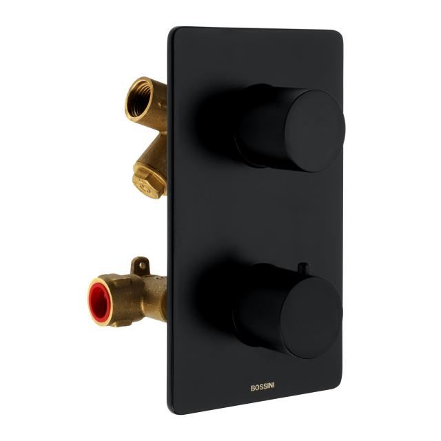 Bossini Black concealed shower thermostat for 2, 3, 4 or 5 outlets
