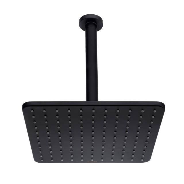 Bossini Black Cosmo overhead shower with ceiling connection