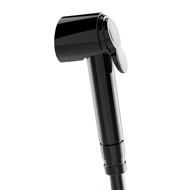 Bossini Black Paloma shower set with shower bracket