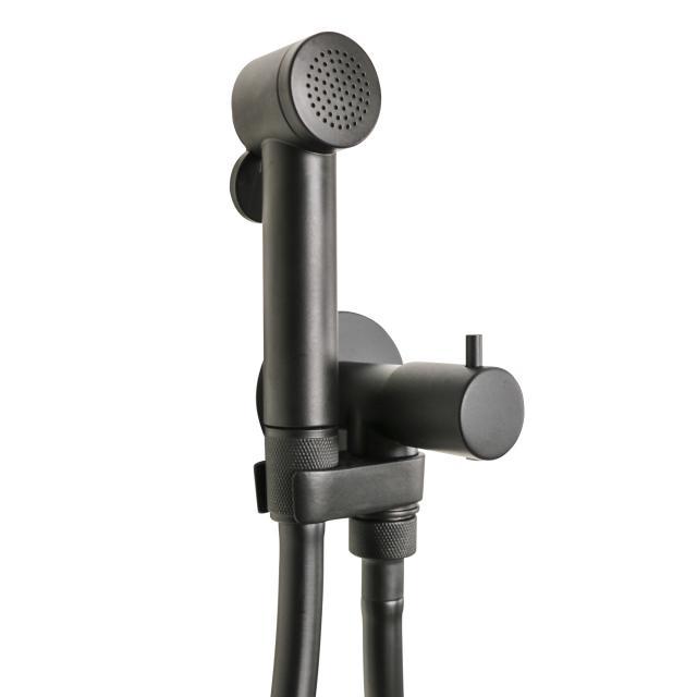 Bossini Black Paloma shower set with stop valve