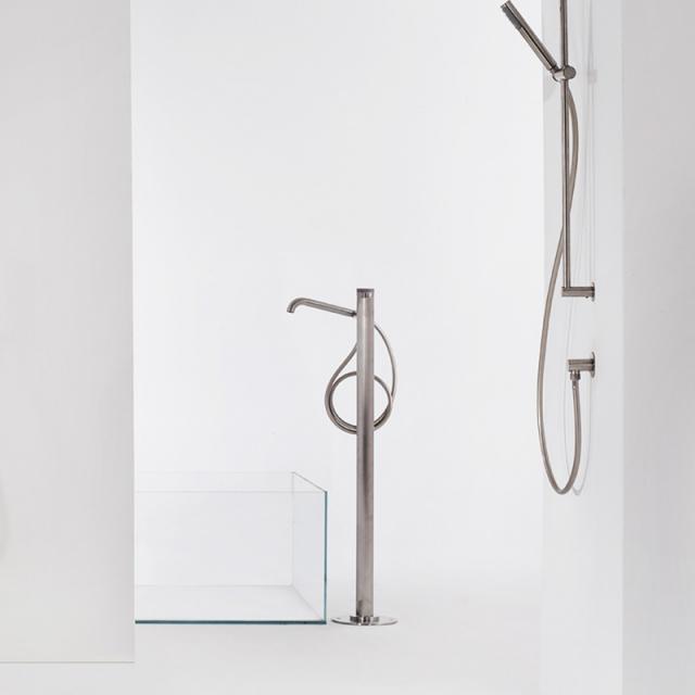 Bossini Inox bath/shower fitting, for floor installation