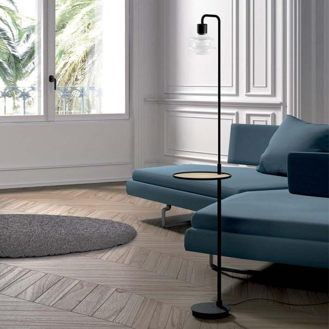 bover Drop Tray LED floor lamp with tray