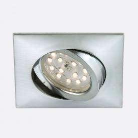 Briloner Attach LED recessed spotlights, square, adjustable