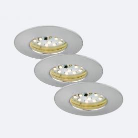 Briloner Attach LED three recessed spotlights, round