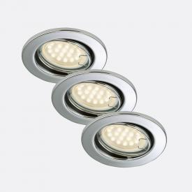 Briloner Attach three recessed spotlights, round, adjustable