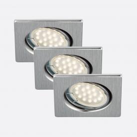 Briloner Attach three recessed spotlights, square, adjustable