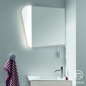 Burgbad Badu mirror with LED lighting linen grey high gloss