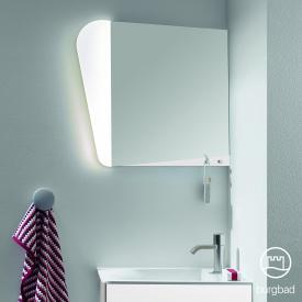 Burgbad Badu mirror with LED lighting matt white