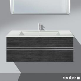Burgbad Bel vanity unit with 2 pull-out compartments and washbasin front hacienda black / corpus hacienda black / WB white