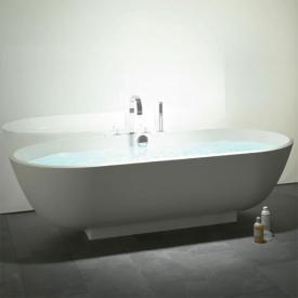 Burgbad Crono 2.0 oval mineral cast bath white