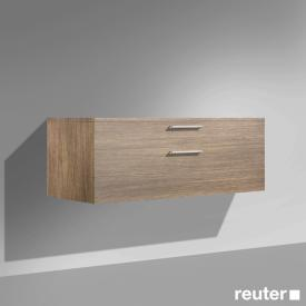 Burgbad Crono base unit, 1 pull-out compartment, 1 drawer front natural walnut / corpus natural walnut