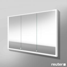Burgbad Crono built-in LED mirror cabinet with 3 doors right version