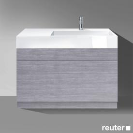 Burgbad Crono mineral cast washbasin, basin right