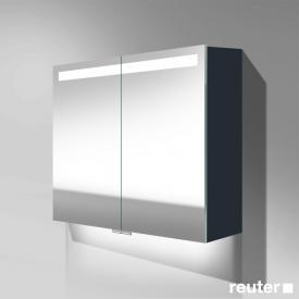 Burgbad Crono mirror cabinet with LED lighting with 2 doors matt anthracite, with washbasin lighting