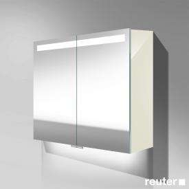 Burgbad Crono mirror cabinet with LED lighting with 2 doors white high gloss, with washbasin lighting