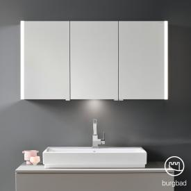 Burgbad Cube mirror cabinet with LED lighting with 3 doors neutral white