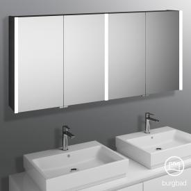Burgbad Cube mirror cabinet with LED lighting with 4 doors neutral white
