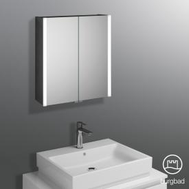 Burgbad Cube mirror cabinet with LED lighting mit 2 doors neutral white