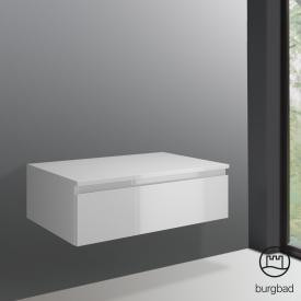 Burgbad Cube sideboard with 1 pull-out compartment front white high gloss / corpus white high gloss