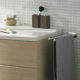 Burgbad double extendable towel bar chrome