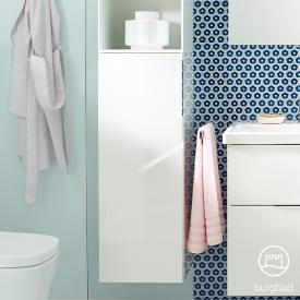 Burgbad Eqio medium unit with 1 door front white high gloss / corpus white gloss, handle chrome