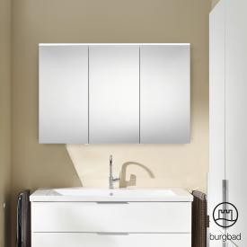 Burgbad Eqio mirror cabinet with LED lighting white gloss, without washbasin lighting
